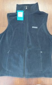 Columbia ladies size large black fleece vest